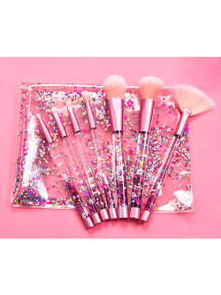 'Michelle' Glitter Make Up Brush Set