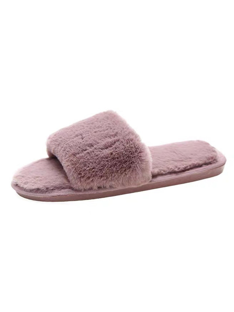'Dulce' Faux Fur Slippers (5 Colors)