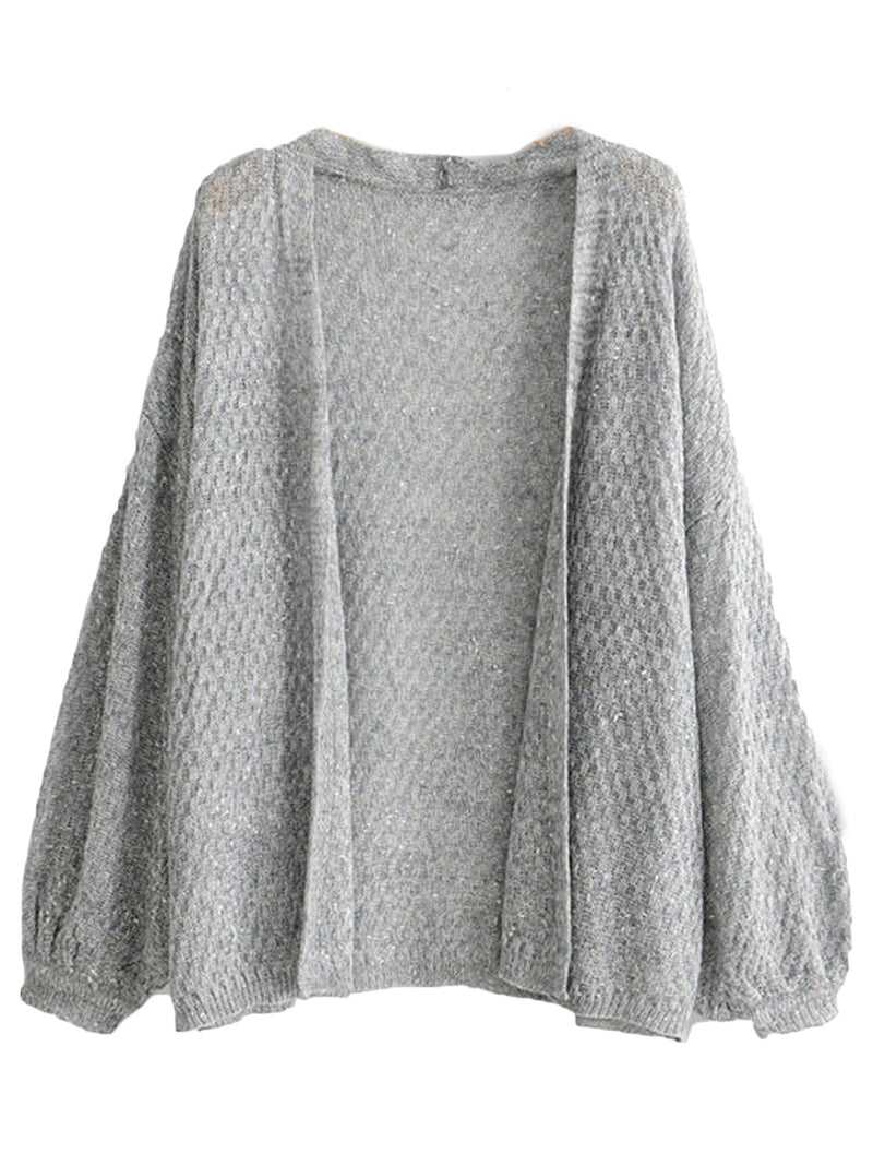 'Catherine' Mixed Knit Open Cardigan (3 Colors)