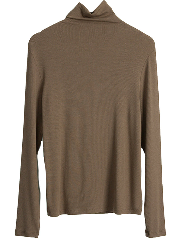 'Eleanor' Mock Neck Ribbed Basic Long Sleeves Thermal Top (4 Colors)