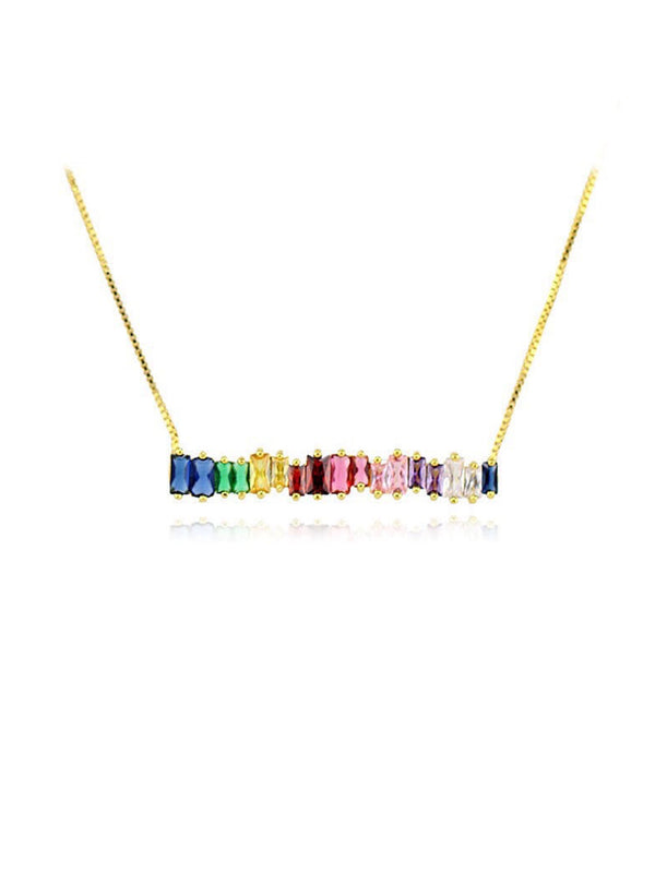 'Marilee' Rainbow Crystals Necklace