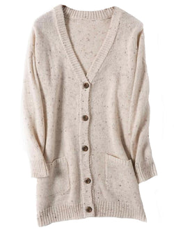 'Callie' V Neck Button Down Mixed Knit Long Cardigan (3 Colors)
