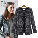 Black Tweed Structured Jacket