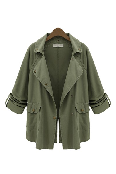 Military Green Parka Jacket - Goodnight Macaroon
