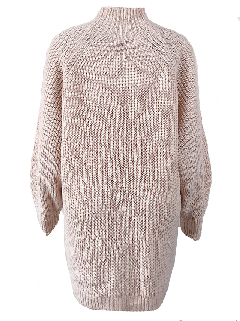 'Roni' Mock Neck Sweater Dress (5 Colors)