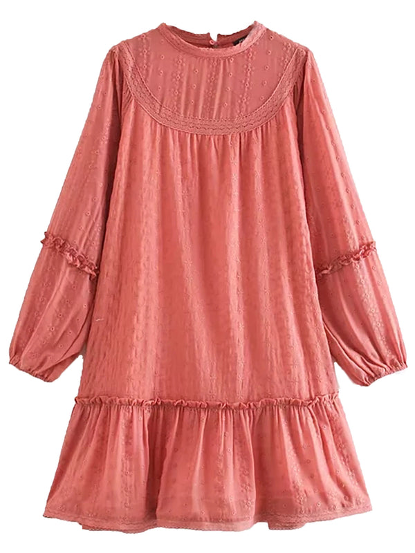 'Josie' Chiffon Eyelet Dolly Mini Dress