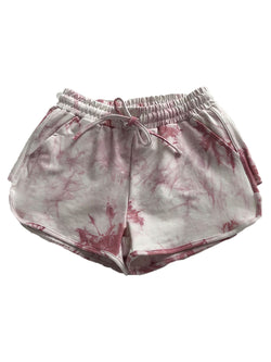 'Violet' Tie Dye Drawstring Comfy Shorts (4 Colors)