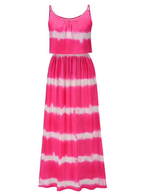 'Destiny' Tie Dye Layer Maxi Dress (4 Colors)