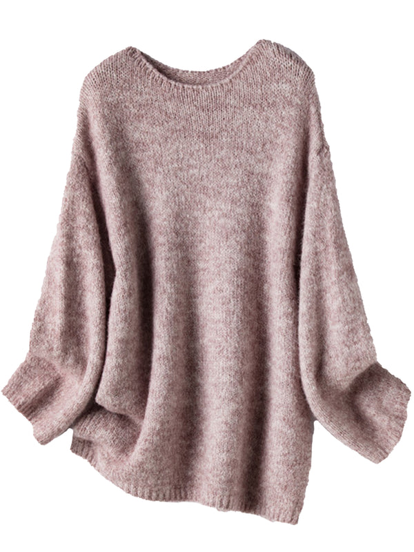 'Carli' Round Neck Comfy Slouchy Sweater (3 Colors)