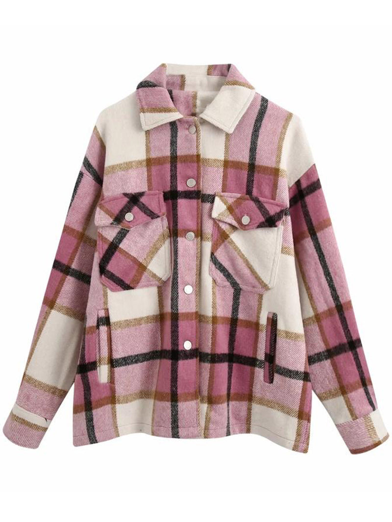 'Winnie' Thick Plaid Oversized Shirt Jacket (6 Colors)