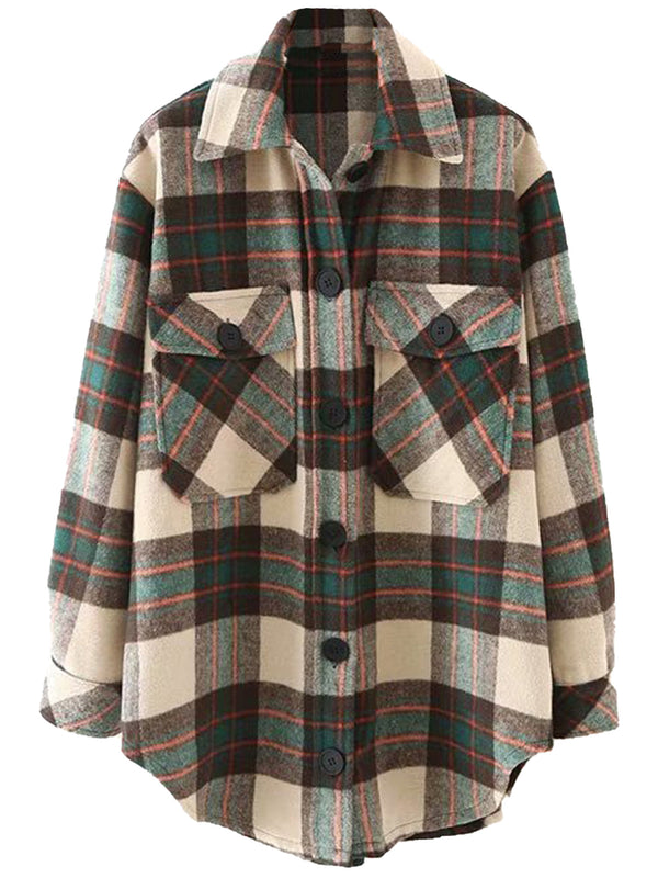 'Katherine' Thick Plaid Shirt (3 Colors)