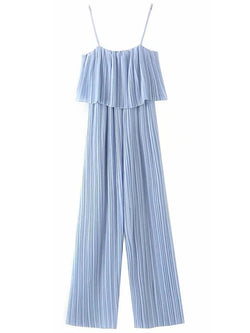 'Madison' Strap Pleated Jumpsuit (2 Colors)