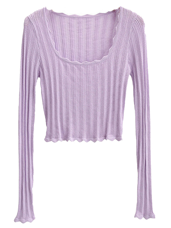 'Nancy' Scoop Neck Loose Knit Top (3 Colors)