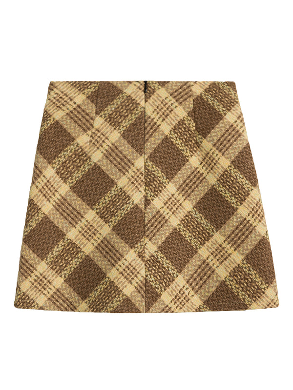 'Charlotte' Plaid Mini Skirt (2 Colors)