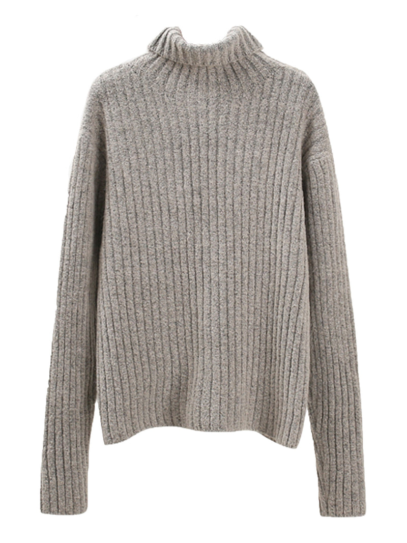 'Kary' Roll Neck Ribbed Sweater (3 Colors)