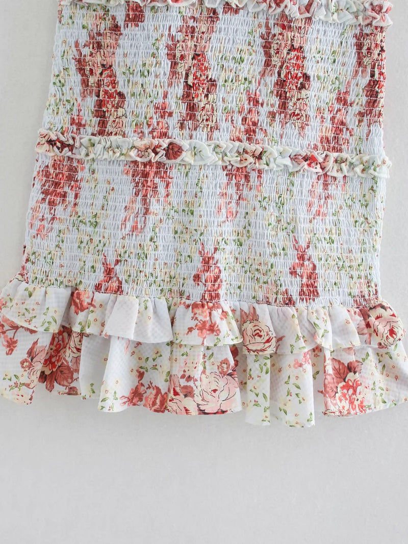 'Ellie' Ruched Floral Mini Dress