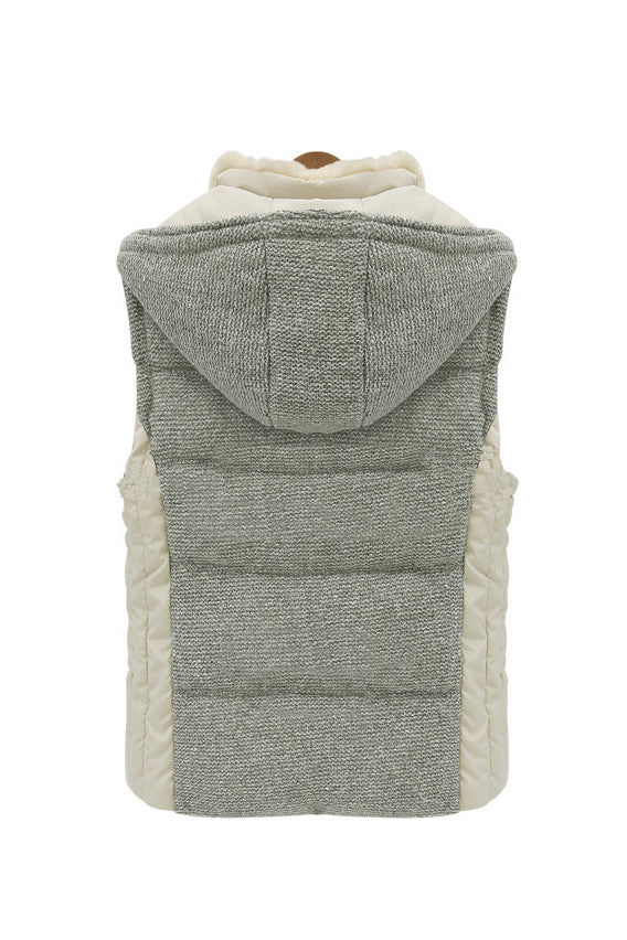 Fur Collar with Hood Puffer Vest