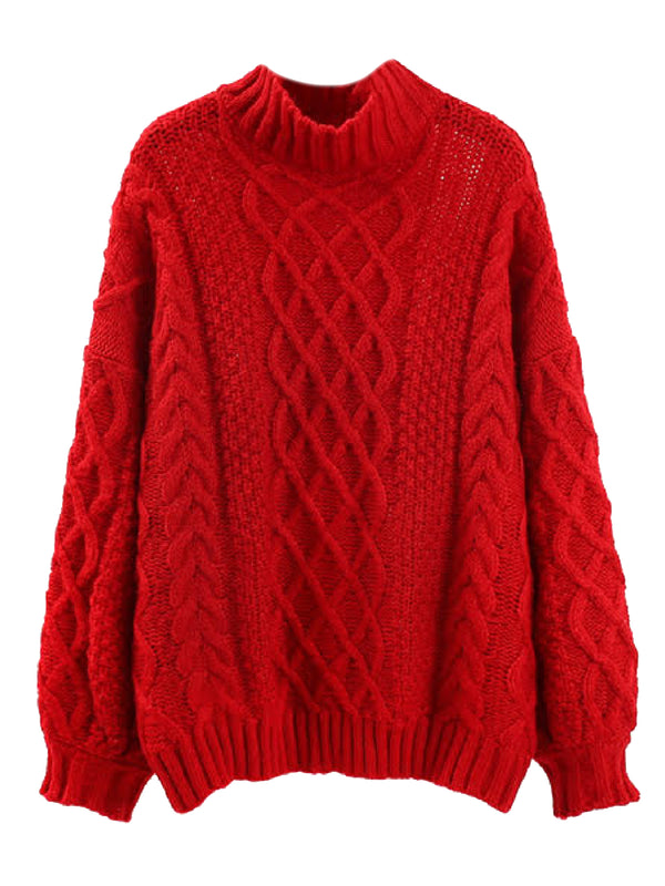'Sam' Chunky Knit Mock Neck Sweater (3 Colors)