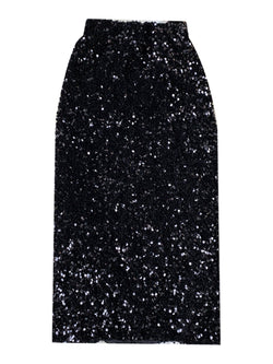 'Maggie' Elastic Waist Sequin Midi Skirt (2 Colors)