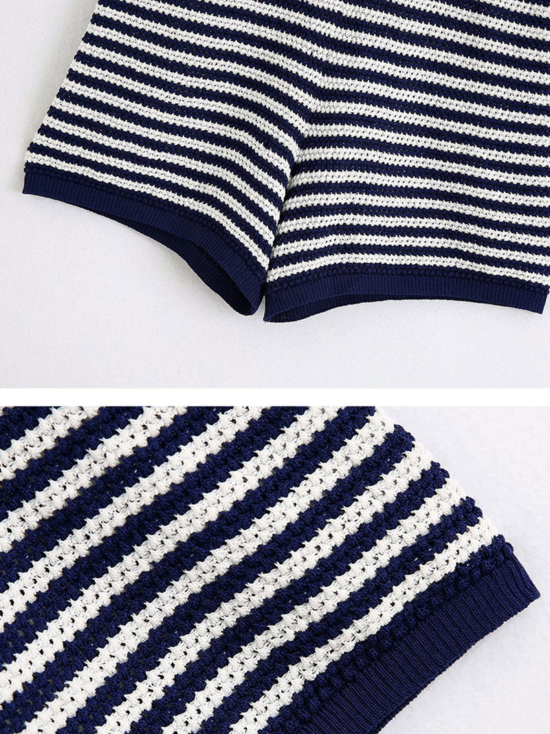 'Lucy' Striped Knitted Shorts