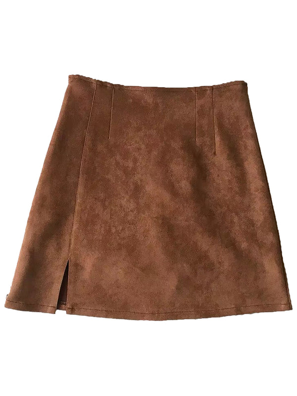 'Eva' Slit detail Tight Mini Skirt (5 Colors)