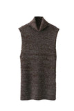 'Lexi' Sleeveless Marl Turtleneck Longline Sweater