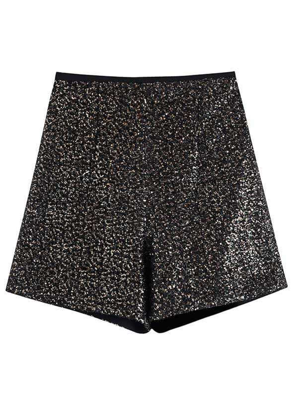 'Leslie' Sequin High Waisted Shorts