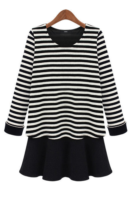 Striped Ballerina Mock Layer Tunic - Goodnight Macaroon