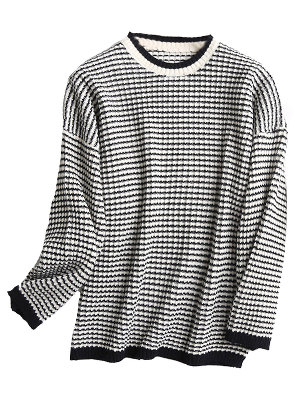 'Carissa' Crewneck Striped Sweater