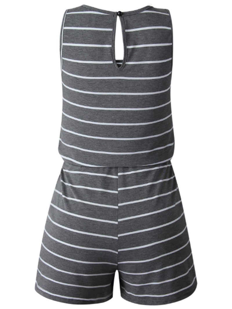 'Jenny' Sleeveless Striped Romper (5 Colors)