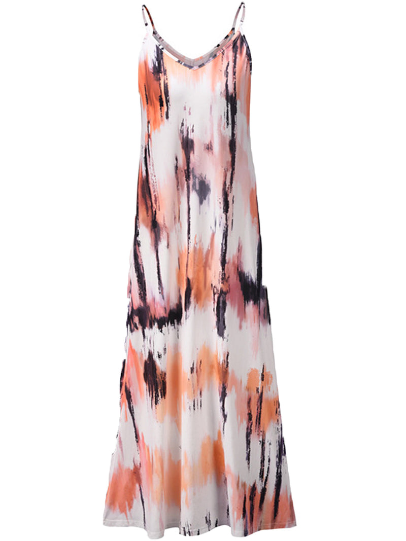 'Faith' V Neck Tie Dye Maxi Dress (3 Colors)