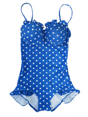 'Jacquelin' Polka Dot One Piece Swimsuit