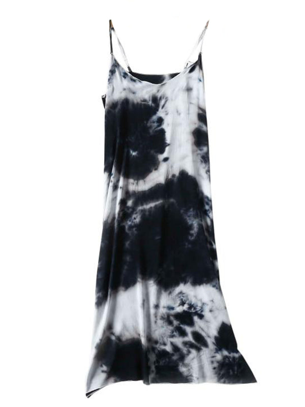 'Karlee' Tie Dye Strap Midi Dress