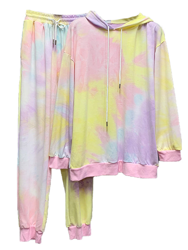 'Piper' Tie Dye Hoodie and Pants Set