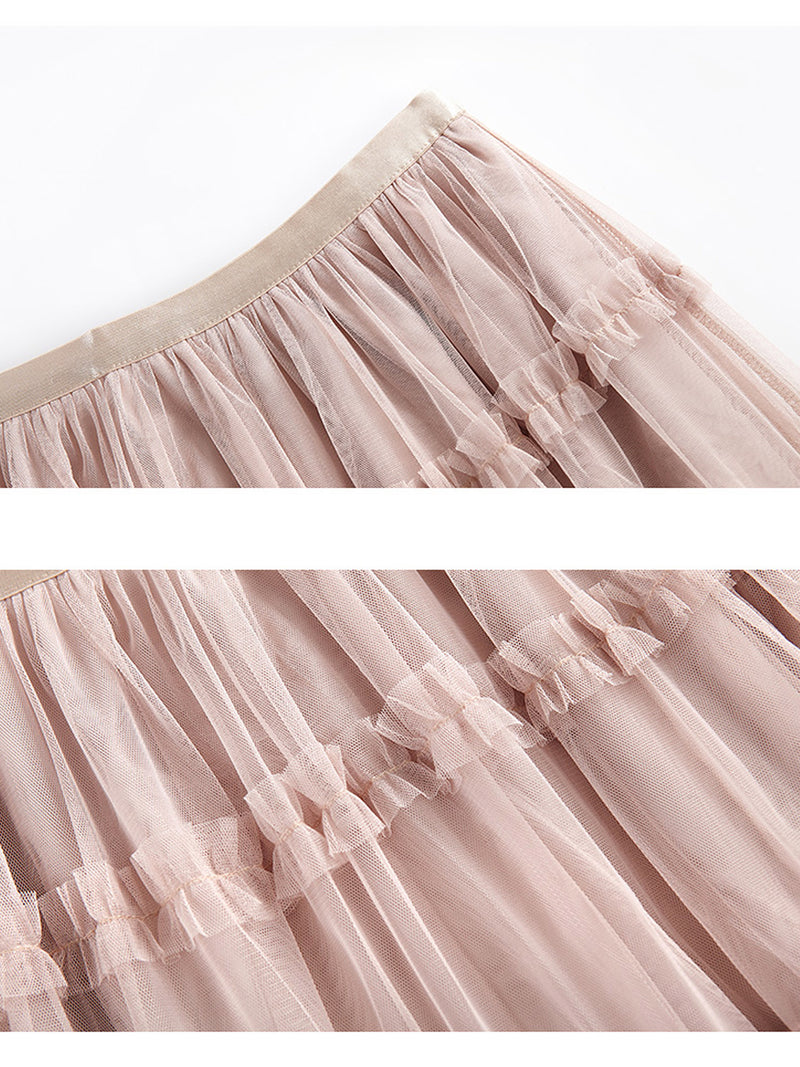'Patricia' Tier Tulle Skirt(2 Colors)