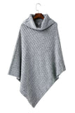 'Mariana' Turtleneck Heather Gray Asymmetrical Sweater