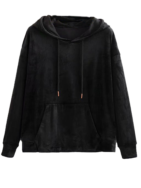 'Nyla' Velvet Hoodie with Pockets (3 Colors)