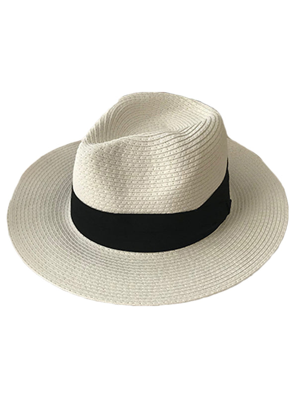'Macy' Straw Hat with Black Ribbon (3 Colors)