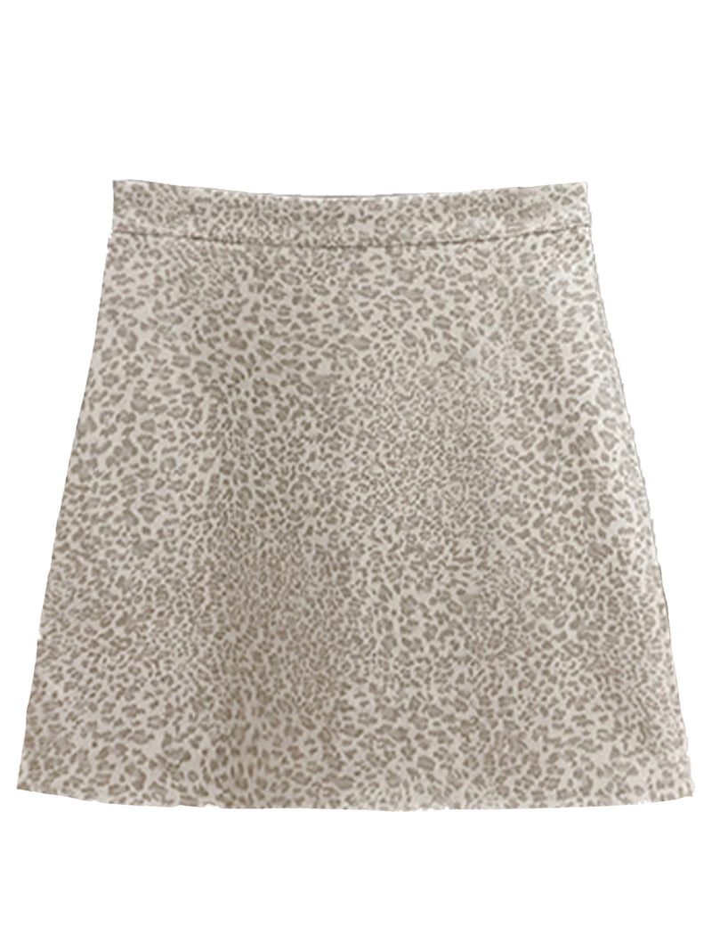 'Indiana' Leopard Print Mini Skirt (3 Colors)