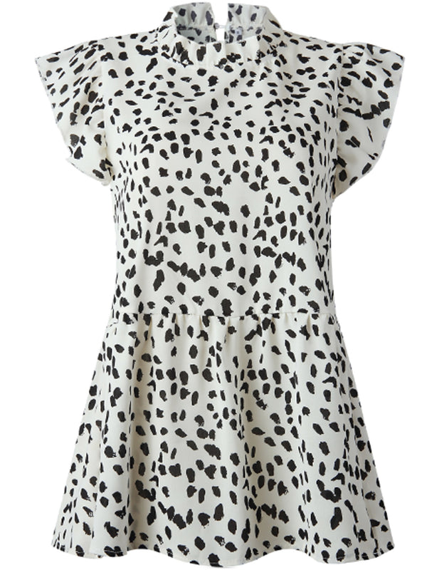 'Cora' Leopard Print High Neck Top (3 Colors)