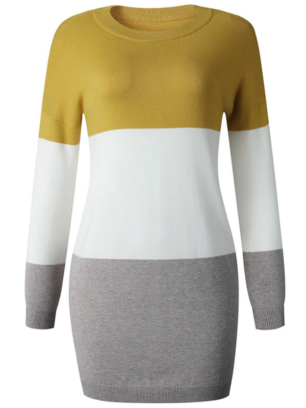 'Brenda' Colorblock Sweater Dress (4 Colors)
