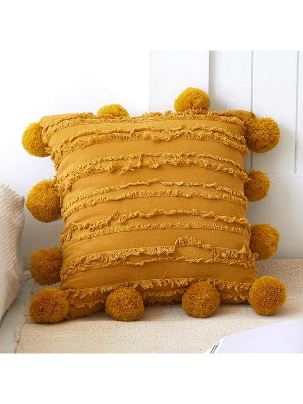 'Carsa' Fringe Bohemian Cotton Cushion Cover (4 Colors)