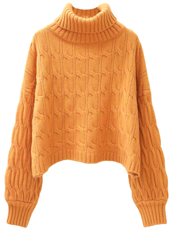 'Ottilie' Turtleneck Cable Knit Sweater (5 Colors)