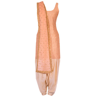 Pink Kurta Set with Sheer Dupatta