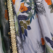Floral Lehenga with two toned dupatta