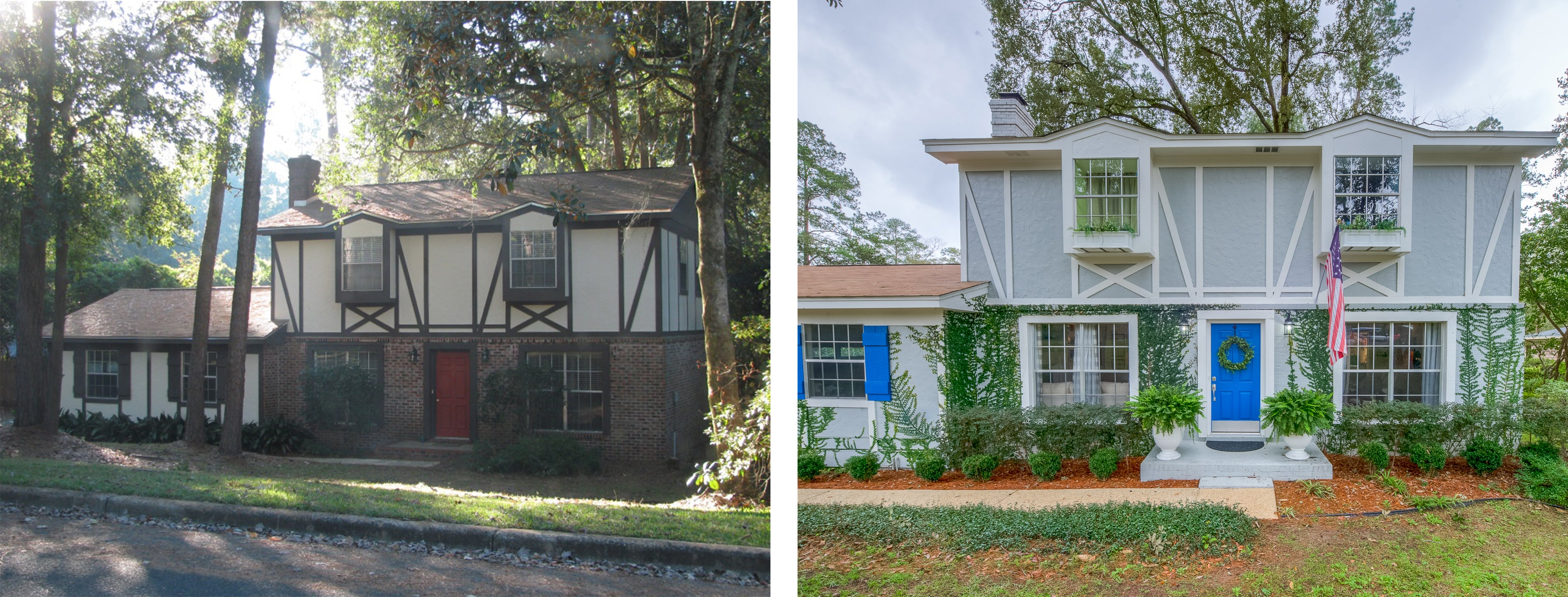 Exterior Before and After - Melissa Colson