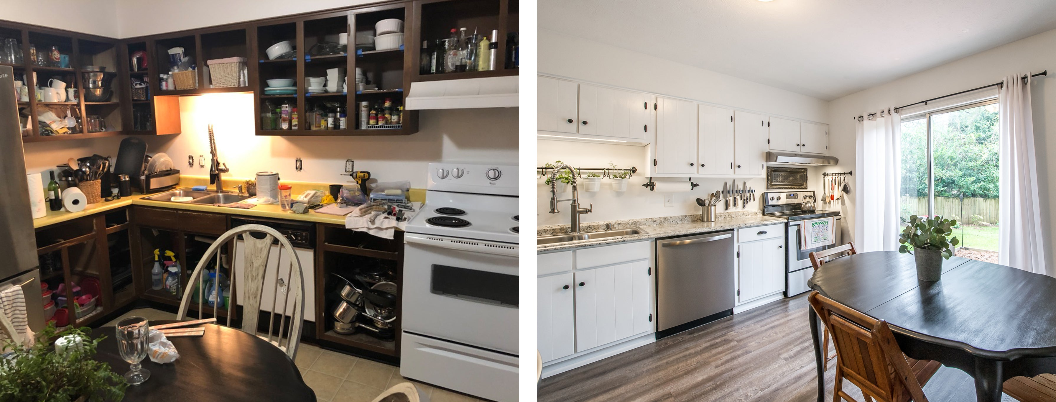 Before and After Kitchen - Melissa Colson