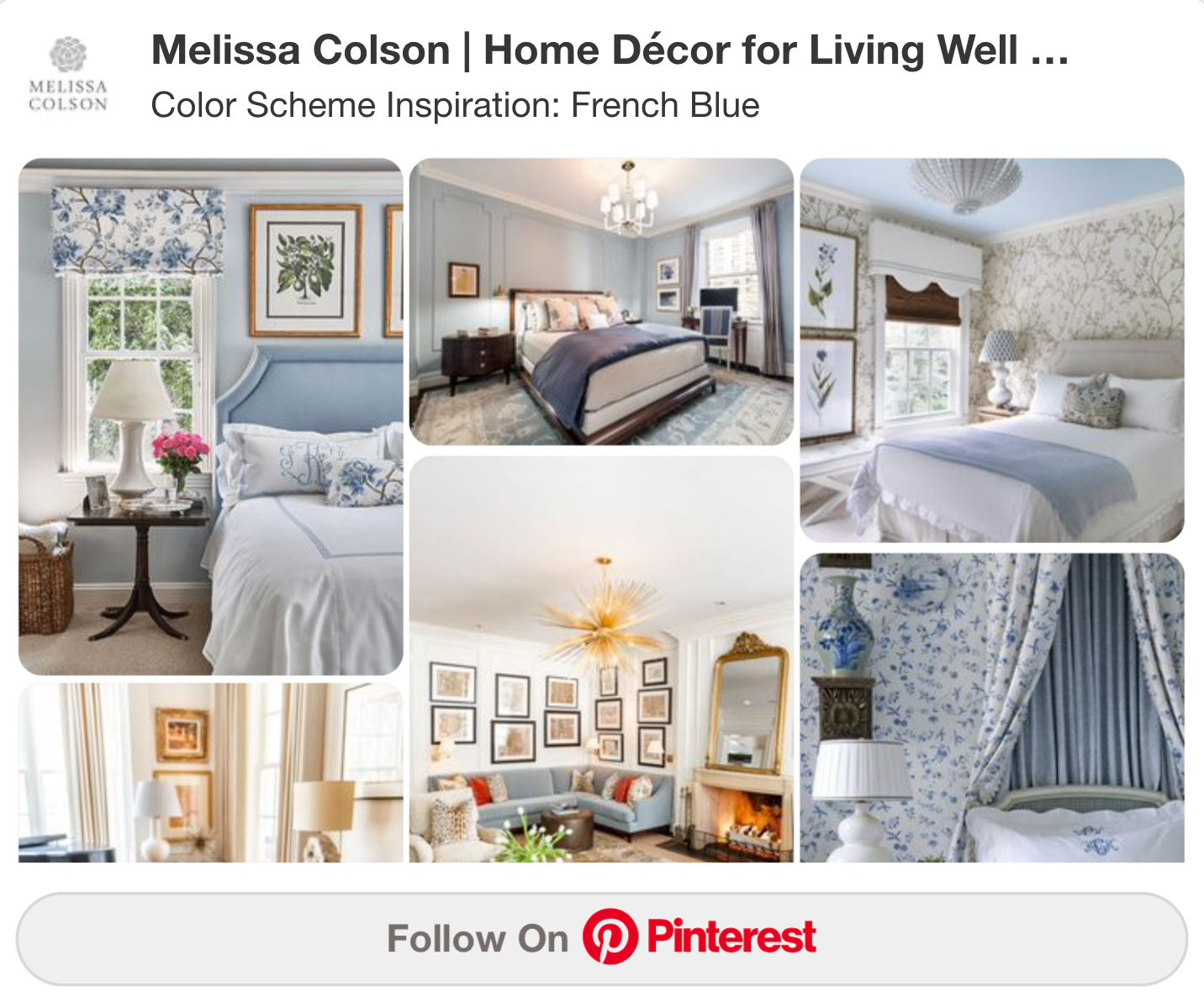 French Blue Color Scheme Inspiration Board