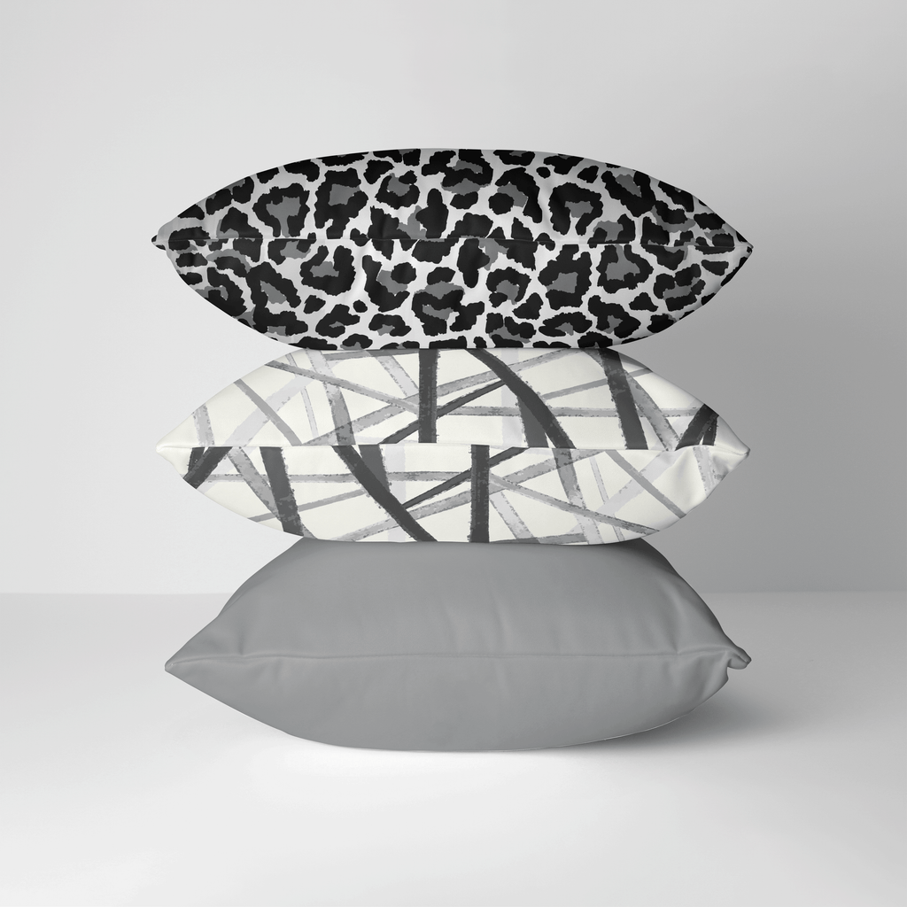 Leopard Print Pillow Cover in Ultimate Gray