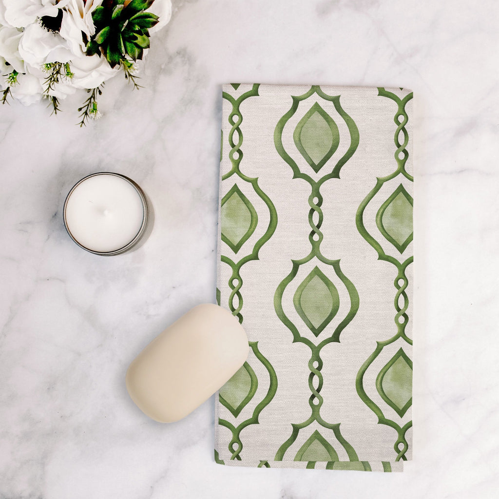 Splendid Trellis Tea Towel in Blush